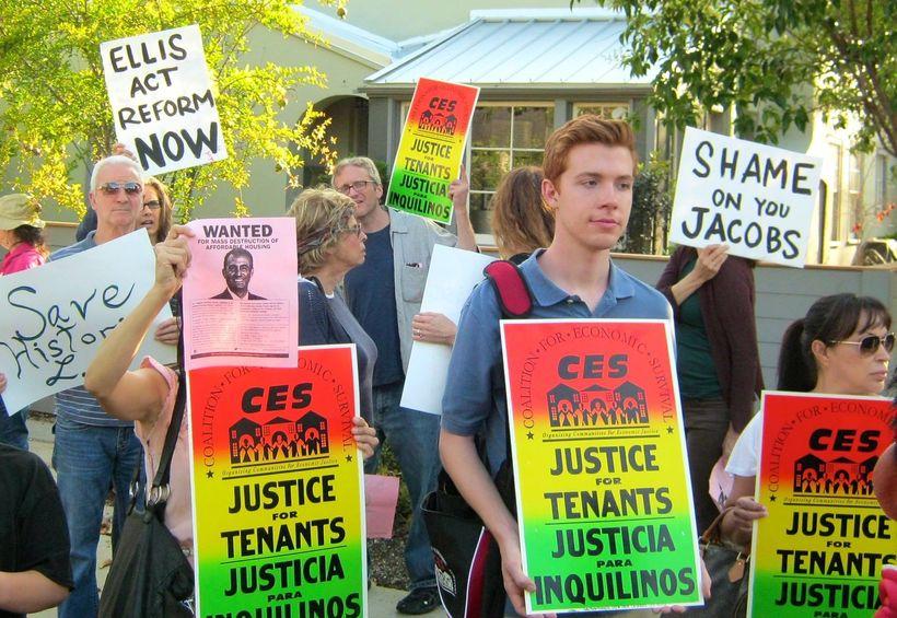 Tenant activists in LA protest evictions