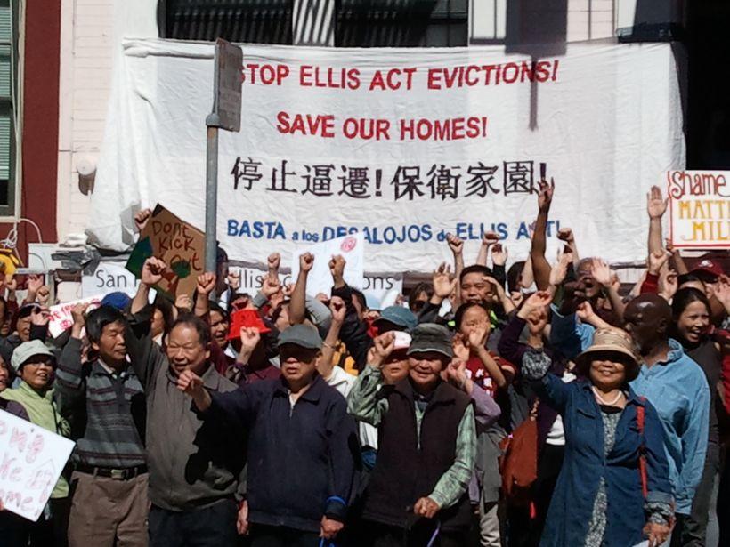 San Francisco tenants protest Ellis Act evictions