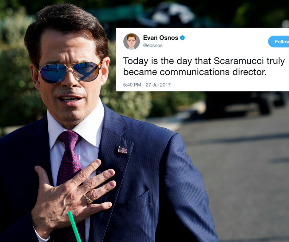 The Internet Explodes Over The New Yorker's Bombshell Scaramucci Interview