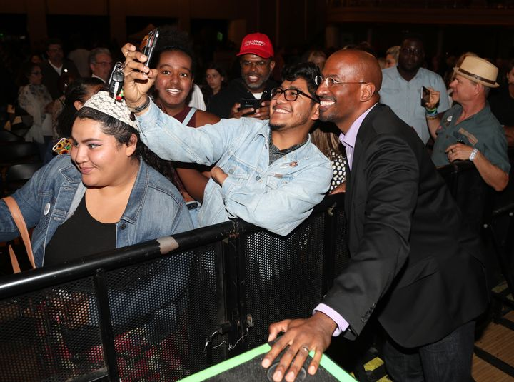 Van Jones greets fans after his We Rise event in Los Angeles on July 26.