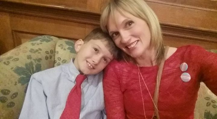 Amber Briggle and her son, Max.