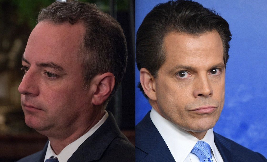 Epic Oval Office Photo Captures The Tensions Between Scaramucci And Priebus