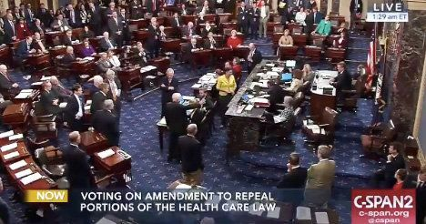 Watch The Senate Gasp Aloud As John McCain Votes No On Obamacare Repeal Bill
