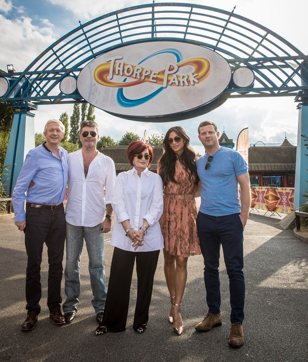 The judges auditions visited Thorpe Park earlier this