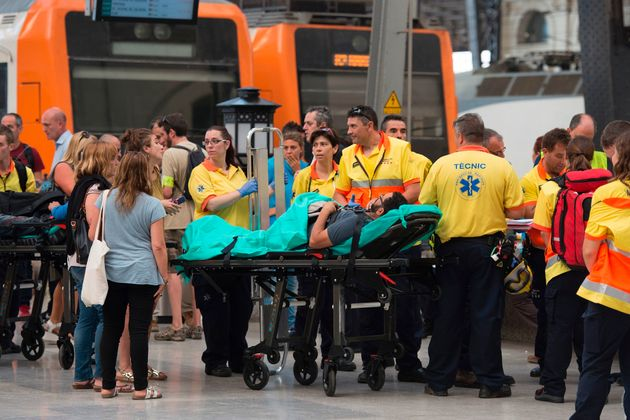 Emergency services help those injured in the