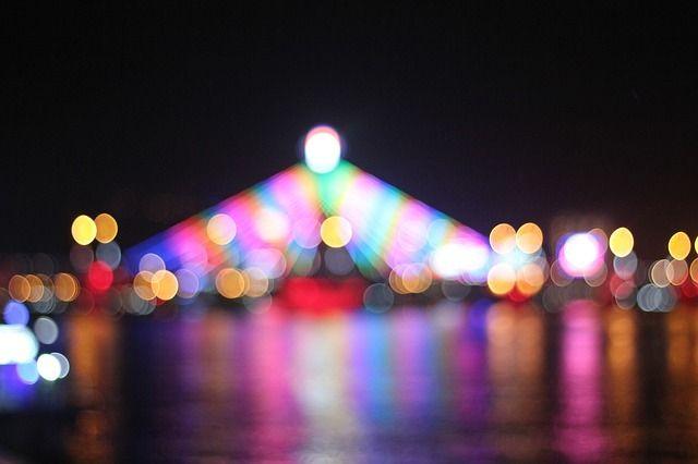 Danang City at night.