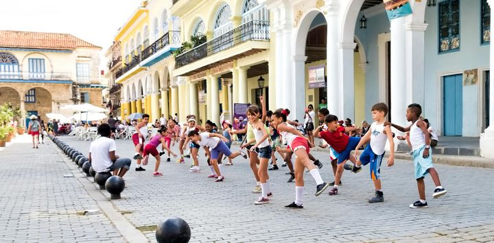 In Cuba, unlike in many Latin American countries, when you see children on the street, they're not begging; they're playing.