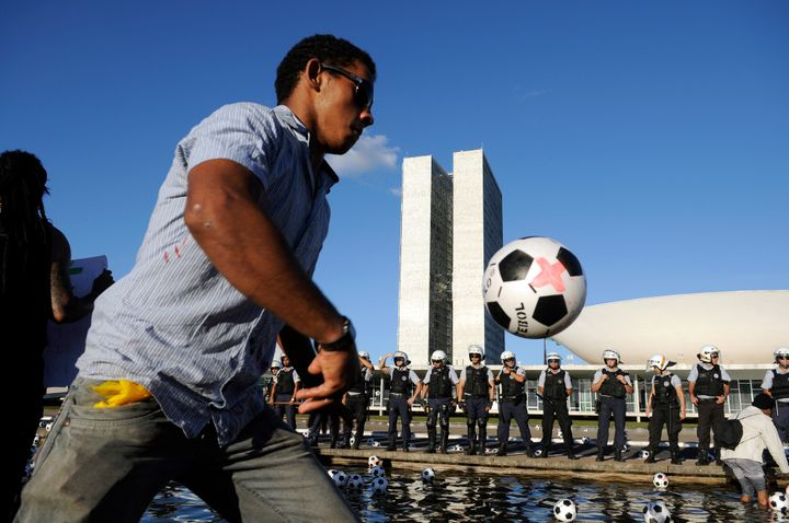 Manifestação - Sports is never just a game and often political, as Brazil learned well during its 2014 World Cup.