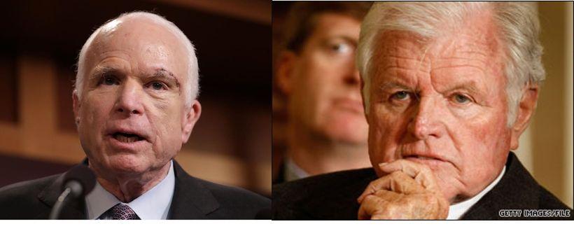 Senators John McCain and the late Ted Kennedy