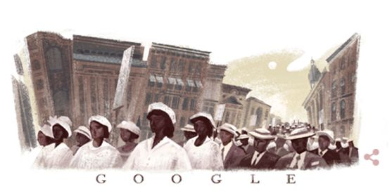 Today's Google Doodle honors The Silent Parade