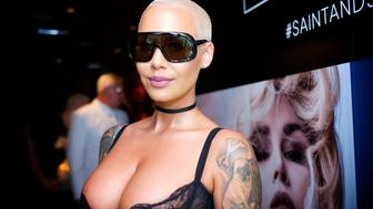 HOLLYWOOD, CA - JUNE 20:  Amber Rose attends the Kat Von D Beauty Fragrance Launch Press Party #SAINTANDSINNER  at Hollywood Roosevelt Hotel on June 20, 2017 in Hollywood, California.  (Photo by Earl Gibson III/Getty Images for KAT VON D BEAUTY)