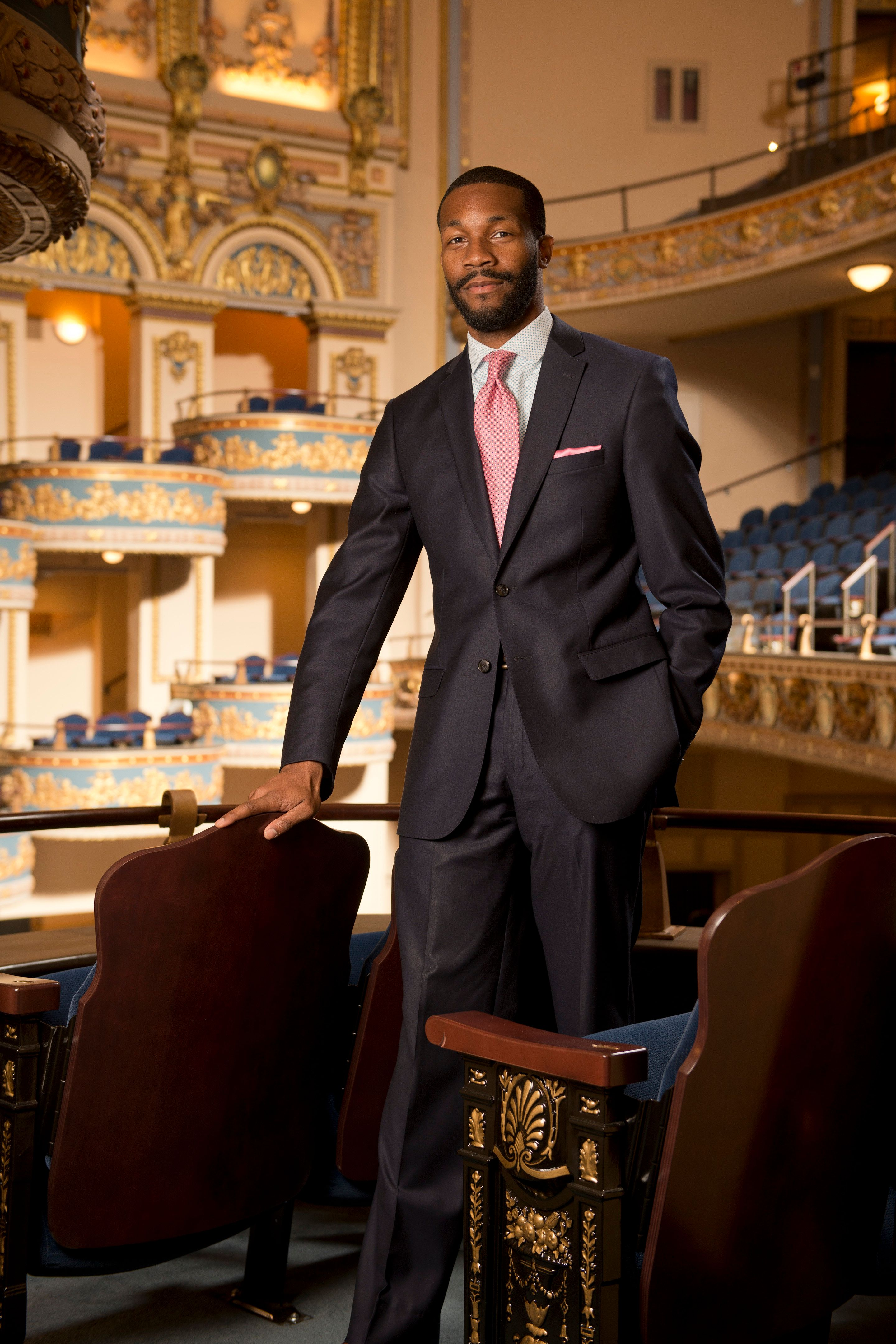 Randall Woodfin, 36, is challenging Birmingham Mayor William Bell. If Woodfin wins, he would be the youngest mayor in the cit
