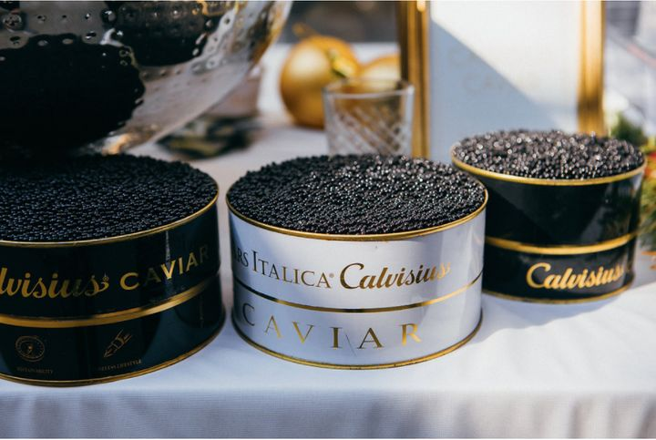 "Calvisius Caviar at the <a href=""http://www.taittinger.com/"" target=""_blank"">Champagne Taittinger</a> Presents: The Art of Celebrating The Holidays III on July 17, where guests were told to eat caviar off the back of their hand."