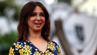 """Cast member Maya Rudolph poses at the premiere for """"The Angry Birds Movie"""" in Los Angeles, U.S., May 7, 2016.   REUTERS/Mario Anzuoni"""