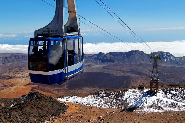 A cable car from the Mount Teide summit, Teide National