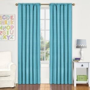<em>The Eclipse Kids Kendall blackout curtains - made of a special, tightly woven fabric that filters 99% of UV, white light,