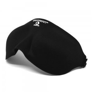 ErgoDream™ eye mask by SleepWiz features moldable memory foam for effective light sealing and eye cavities that encourage REM