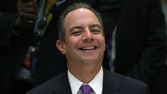 WASHINGTON, DC - FEBRUARY 02:  (AFP OUT) White House Chief of Staff Reince Preibus attends a meeting between U.S. President Donald Trump and executives and union representatives from the Harley Davidson company at the White House on February 2, 2017 in Washington, DC. At the end of the photo opportunity, Trump said 'nothing is off the table' in relation to current disagreements between the U.S. and Iran.  (Photo by Win McNamee/Getty Images)