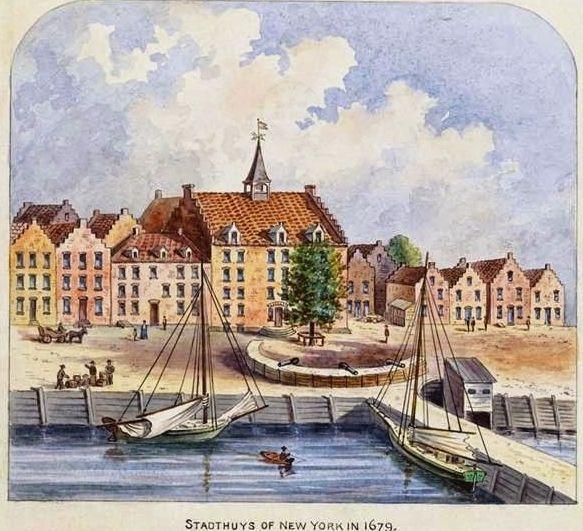 <em>Louis Oram,</em> <em>View of Stadthuys, watercolor. </em>