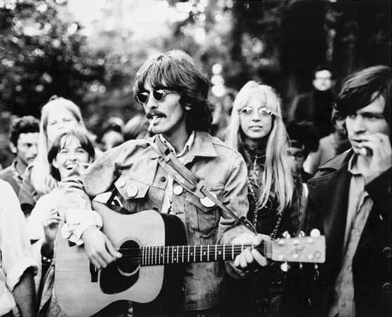 George and Pattie Harrison in San Francisco, August 1967