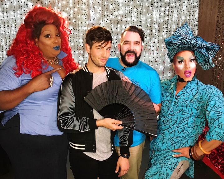 Lady Red Couture, Daniel Preda, Jonny McGovern and Erickatoure Aviance on Hey Qween