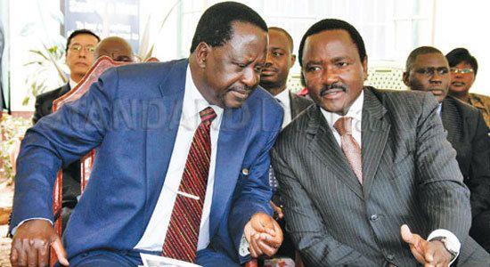 NASA Ticket Raila Odinga (L) & Kalonzo Musyoka (R)