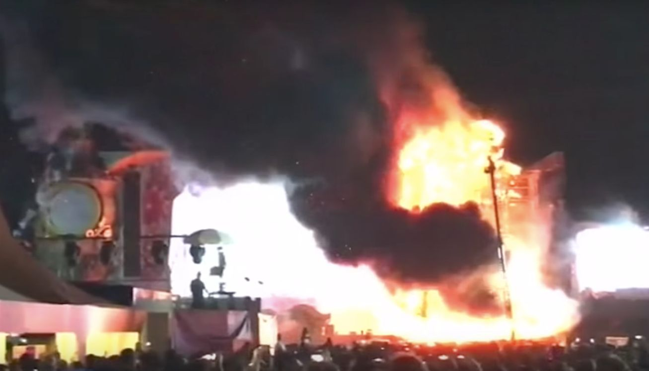 Huge Fire Erupts At Tomorrowland Festival In Spain, Forces Evacuation Of 22,000