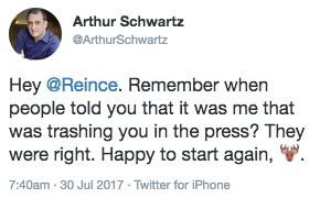 Scaramucci Friend Threatens To Leak Dirt On 'Unemployed' Reince