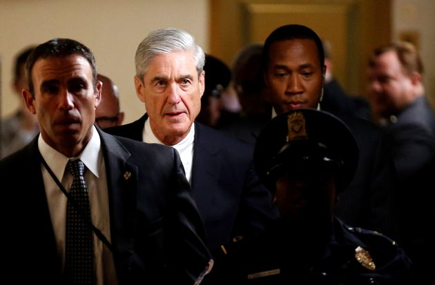 Special Counsel Robert Mueller departs after briefing members of the U.S. Senate on his investigation...
