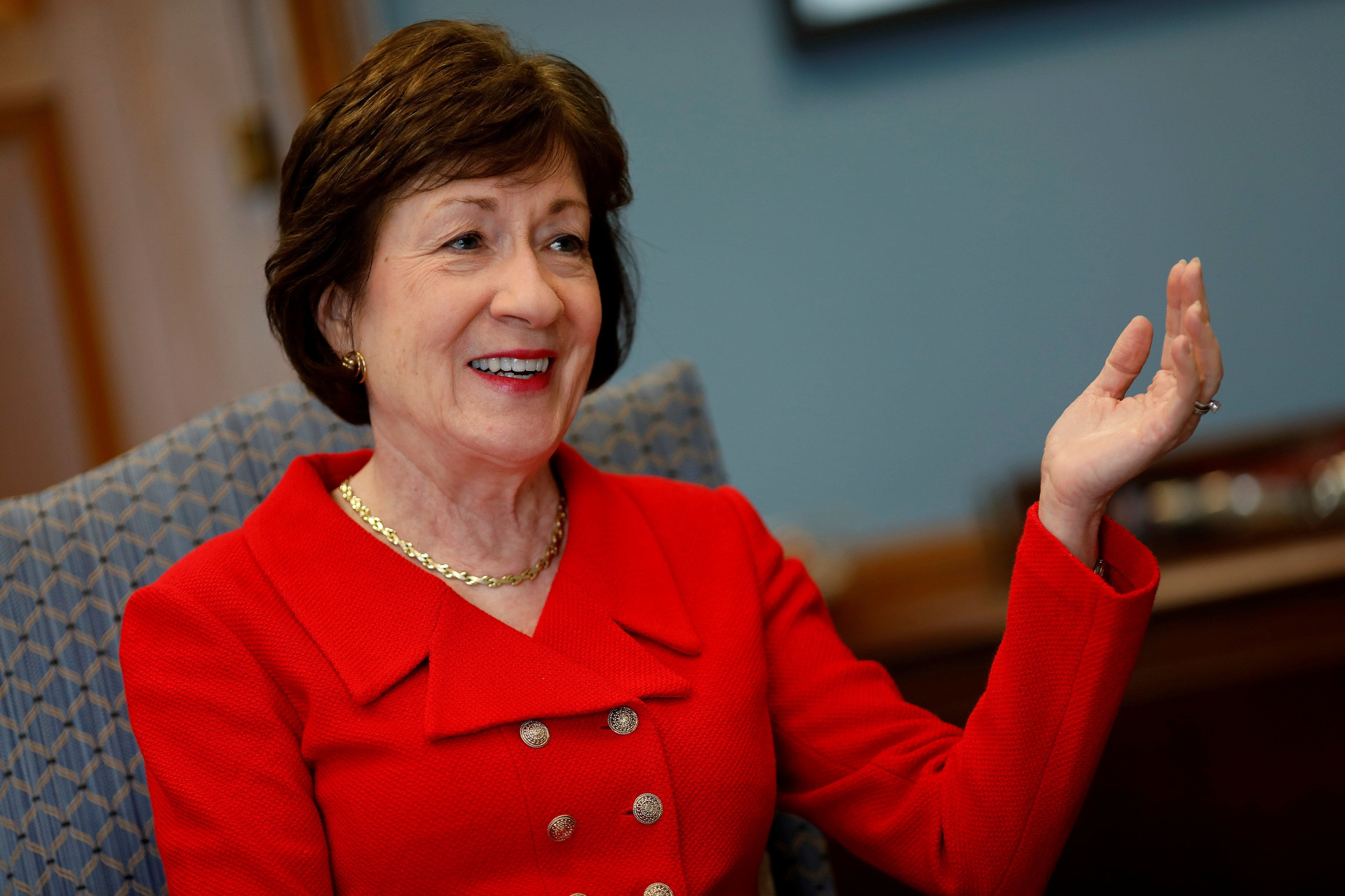 "Sen. Susan Collins (R-Me.) cast one of three Republican votes against the so-called ""skinny"" repeal bill early on F"