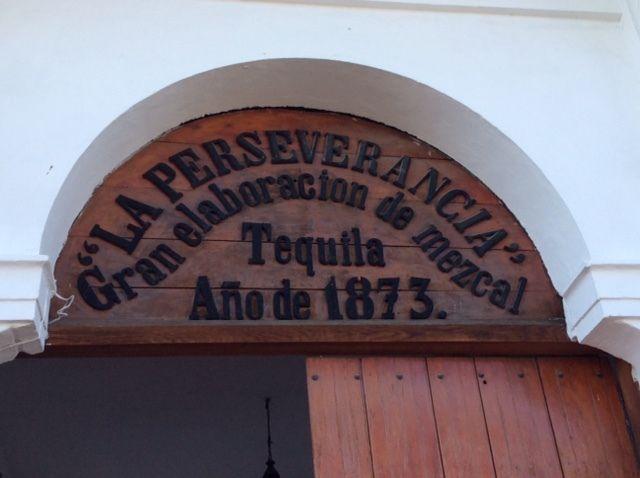 The entrance to the Sauza distillery, La Perseverancia
