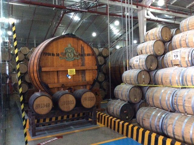 Maturation warehouse at Casa Sauza.