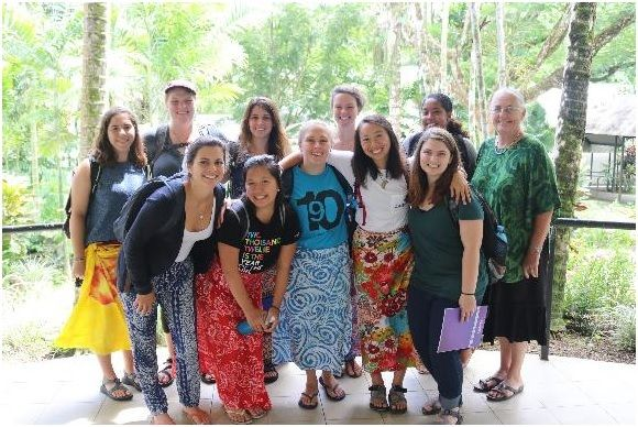 Jackie with SIT cohort in Samoa