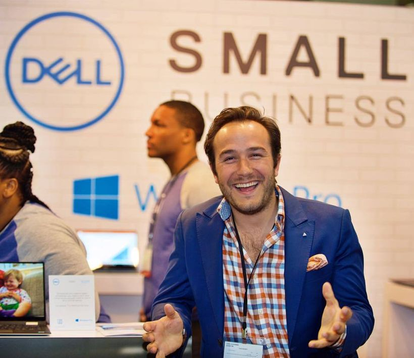Chris Schembra, founder of 747 Club and millennial, speaks at a Dell Small Business event