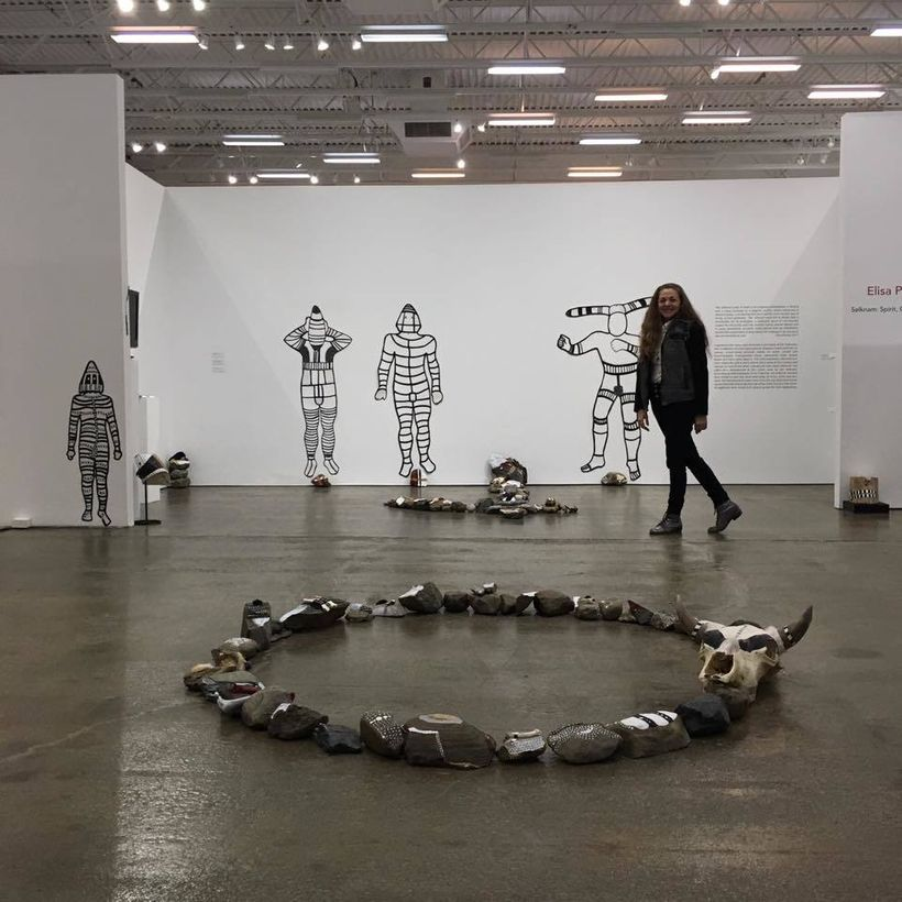 Installation View, <em>Selknam: Spirit, Ceremony, Selves</em>, 2017, Elisa Pritzker, at The Hudson Valley Center for Contempo