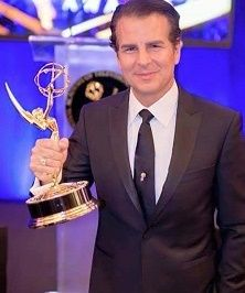 Vincent DePaul and 1 of his 2 Emmy® Awards!