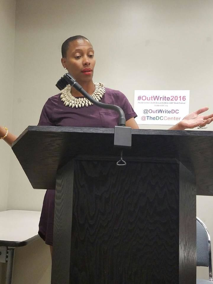 Imani Sims reading at OutWrite DC 2016.