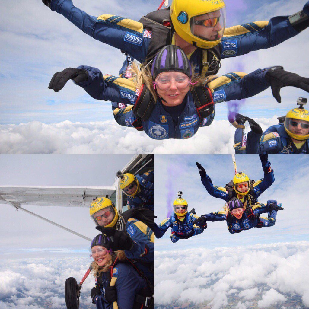 Carol Vorderman Proves What A Total Badass She Is With 12,000ft Skydive