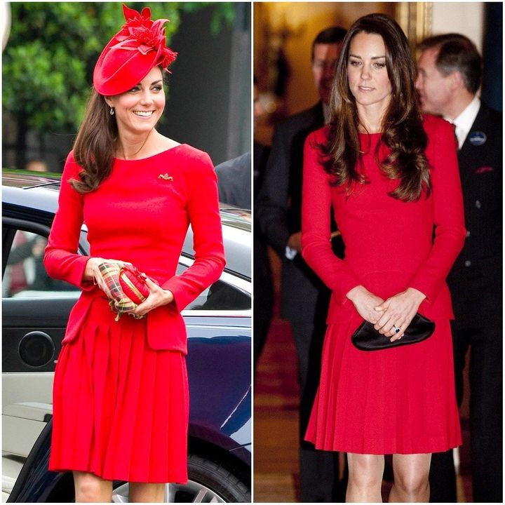 L: At the Thames Diamond Jubilee Pageant in 2012, R: At a dramatic arts reception in 2014.