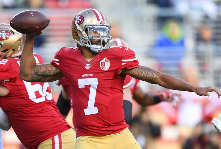 Kaepernick, pictured in a game Jan.1, threw for 2,241 yards last season in 11 starts.