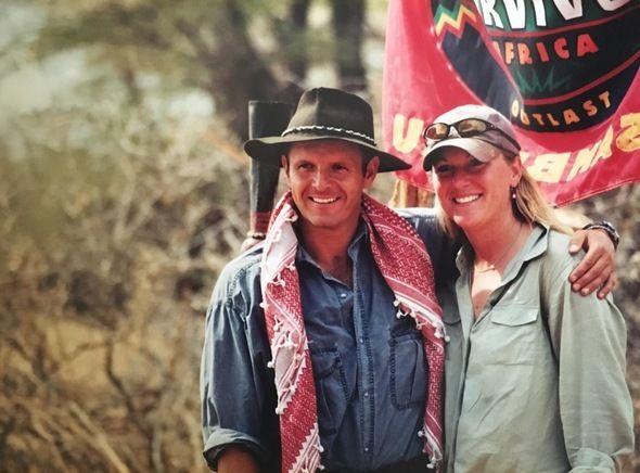 <em>Lisa & Mark Burnett on location for Survivor: Africa. </em>