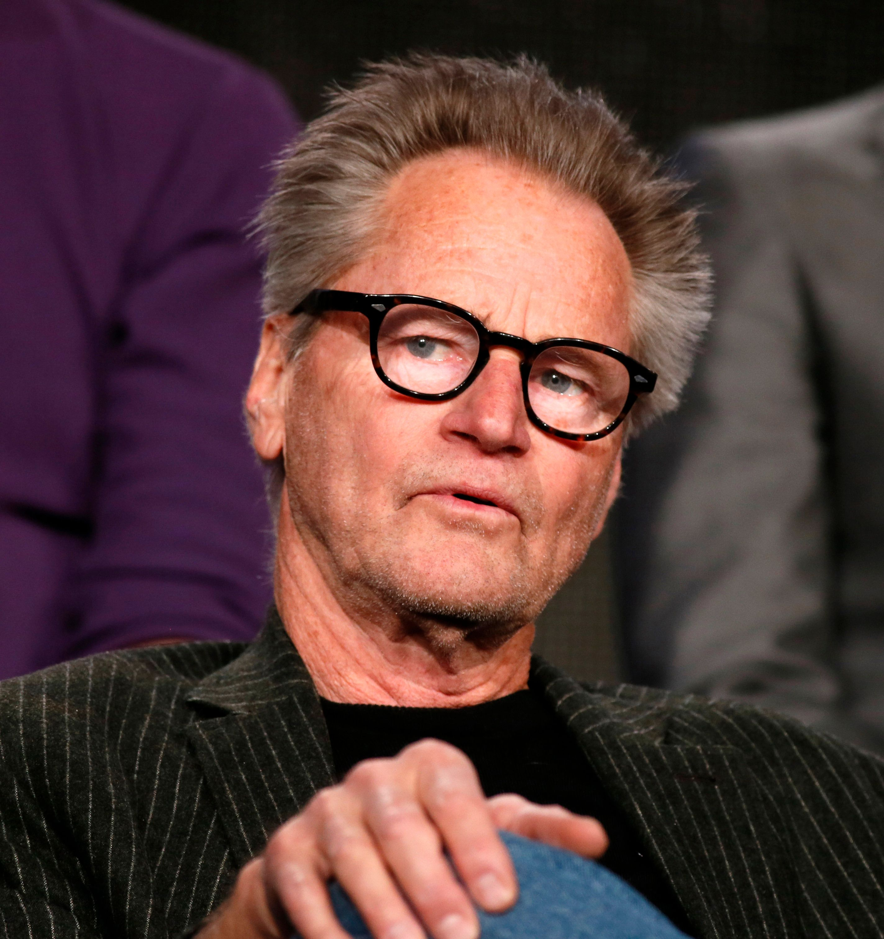 """Actor Sam Shepard talks about Discovery Channel's """"Klondike"""" during the Winter 2014 TCA presentations in Pasadena, California, January 9, 2014. REUTERS/Lucy Nicholson (UNITED STATES - Tags: ENTERTAINMENT)"""