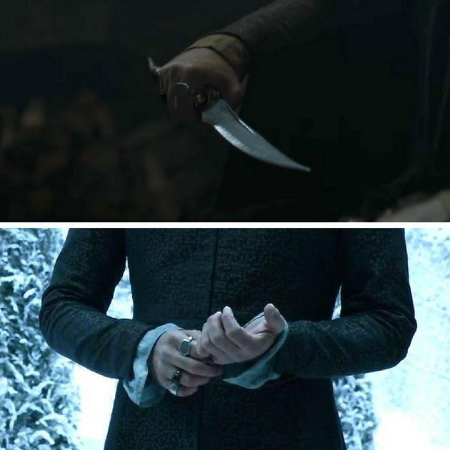 A shot fromEpisode 4, above, looksa lot like Littlefinger,