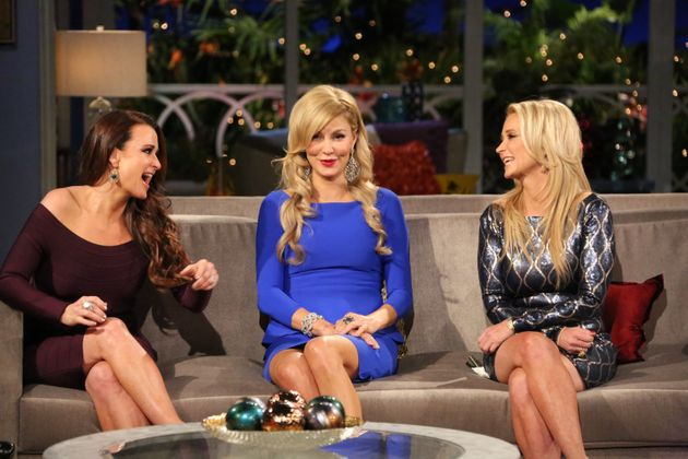 Brandi, centre, with co-stars Kyle and Kim