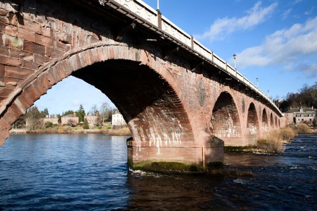 Perth Bridge over the River Tay in Perth, Scotland - one of Smeaton's