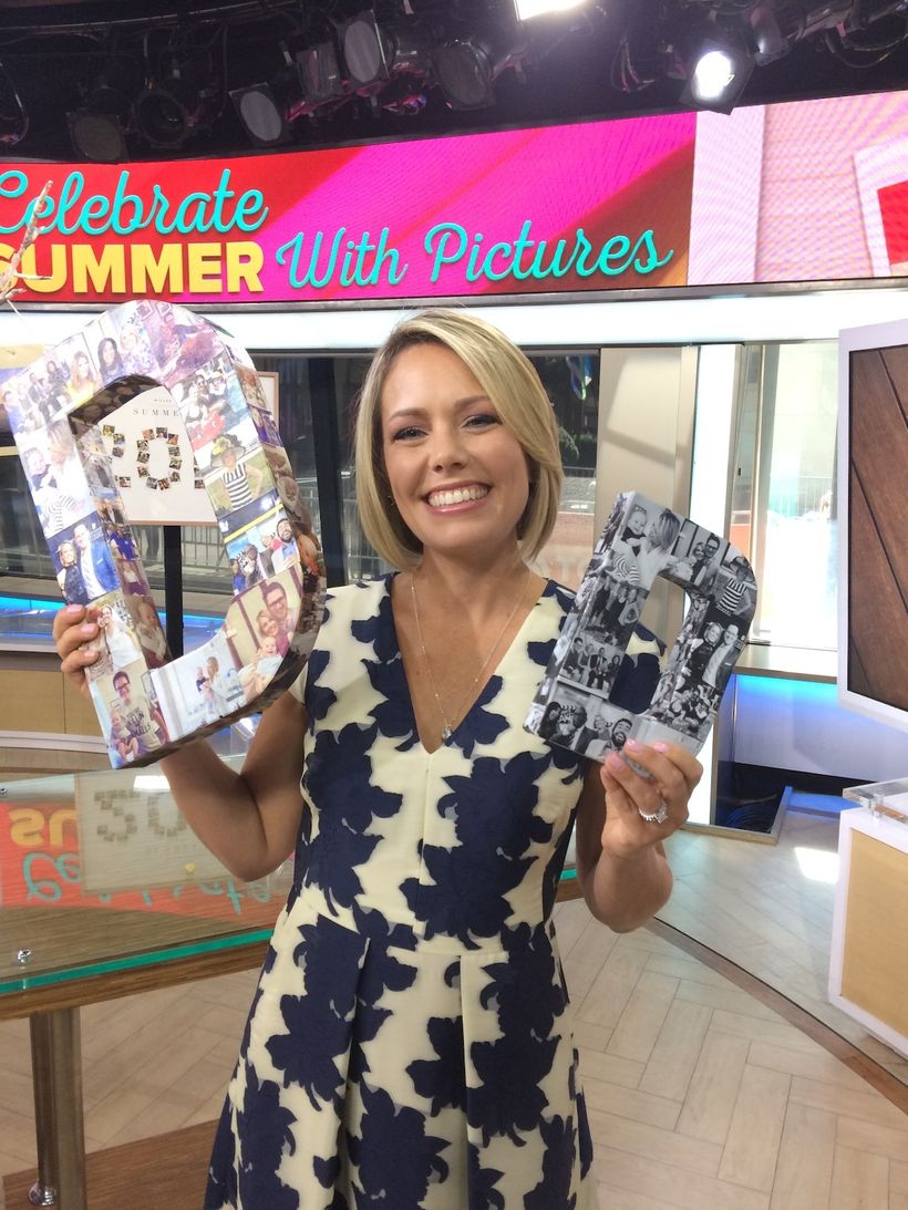 """Today co-host Dylan Dreyer was so touched to receive her custom-made Initial Remembrance """"D"""" letters featuring her family pho"""