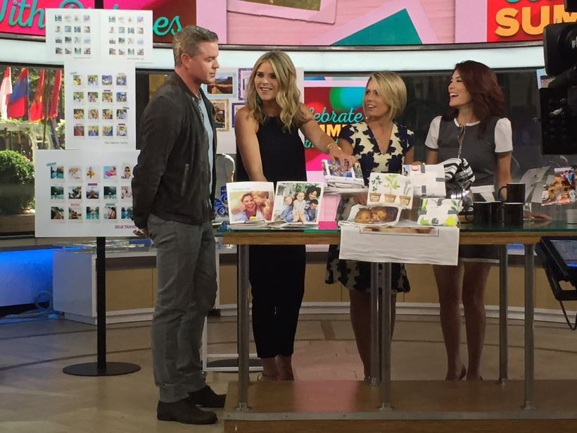 With Today guest co-host Eric Dane, and co-hosts Jenna Bush Hager & Dylan Dreyer.