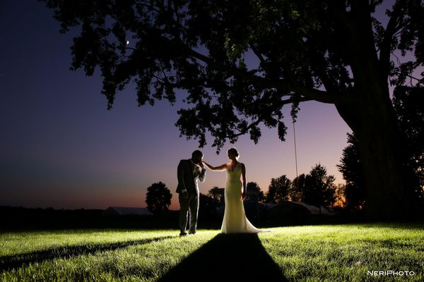 """Zach and Kelsey tied the knot at Heritage Prairie Farm in Elburn, Illinois."" --  <i>Neringa ""Neri"" Ridges</i>"