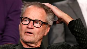 """Actor Sam Shepard talks about Discovery Channel's """"Klondike"""" during the Winter 2014 TCA presentations in Pasadena, California, January 9, 2014. REUTERS/Lucy Nicholson (UNITED STATES - Tags: ENTERTAINMENT PROFILE)"""
