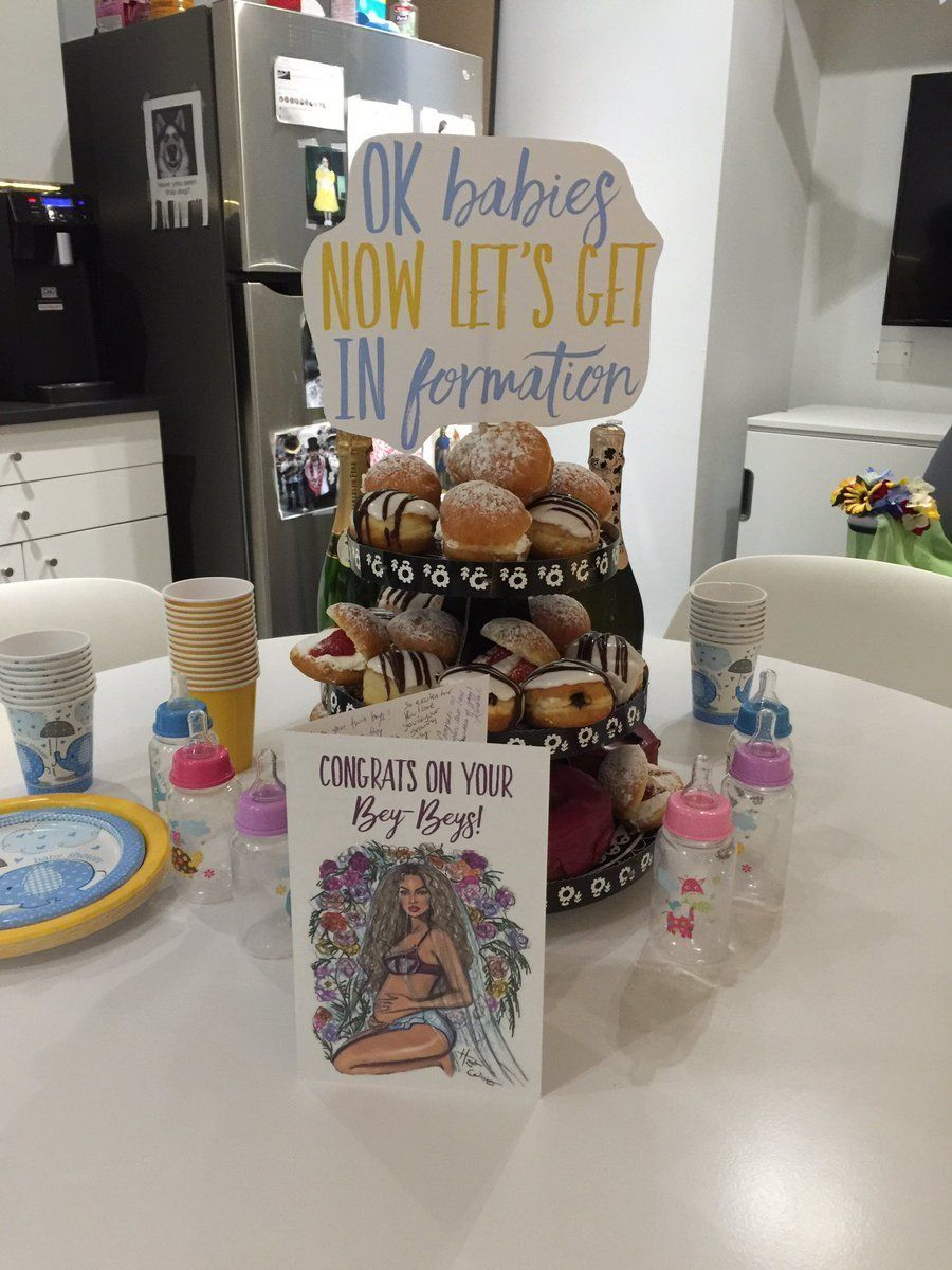 A marketing department in New York City threw a Beyoncé-themed baby shower for a coworker.
